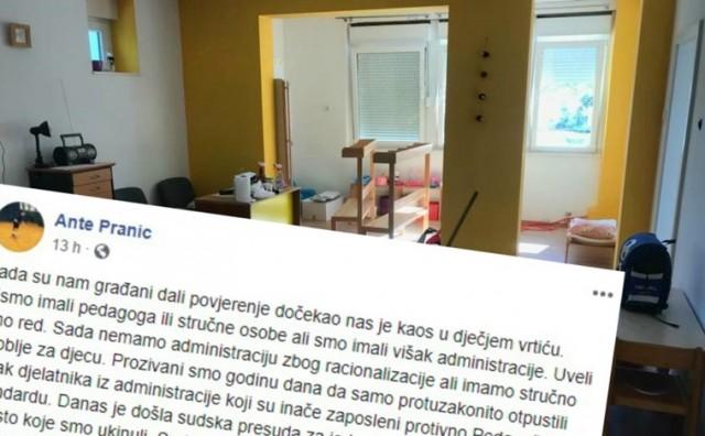 Gradonačelnik Vrgorca otpustio uhljebe i od njihovih ureda napravio vrtić
