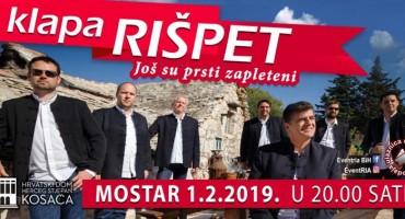 Za sve ljubitelje klapske pisme, najavljujemo koncert klape Rišpet u Mostaru
