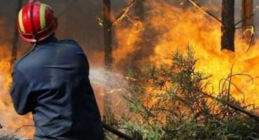 Požar na hrvatskom otoku Korčuli