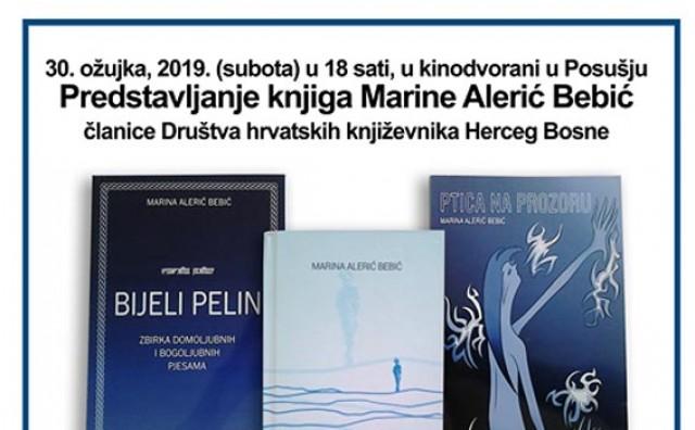 Promocija tri zbirke poezije Marine Alerić Bebić