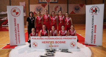 ŽKK Zrinjski 2010: Plemkinje osvojile Ligu Herceg Bosne