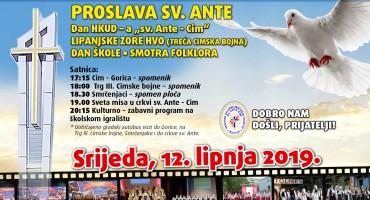 "Tradicionalna proslava sv. Ante, dan HKUD – a ""sv. Ante – Cim"" i Smotra folklora u Cimu"