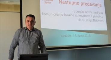 Dr. sc. Drago Martinović održao nastupno predavanje u Varaždinu