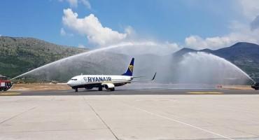Prvi zrakoplov Ryanaira sletio u Zračnu luku Dubrovnik