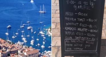 Novinarka objavila cijene doručka na Hvaru: Zar za tost i jaja treba ovoliko platiti?!