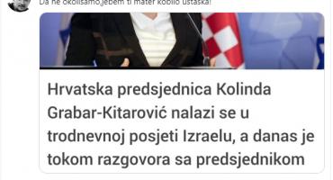 Primitivac iz Sarajeva: Bakir Hadžiomerović hrvatsku predsjednicu nazvao 'ustaškom kobilom'