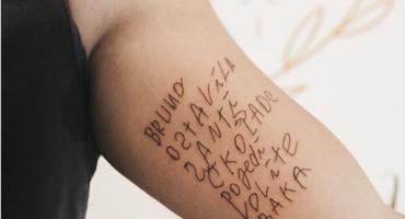 Svi pričaju o tetovaži zagrebačkog tattoo studija: 'Čuvao sam bakinu poruku četiri godine'