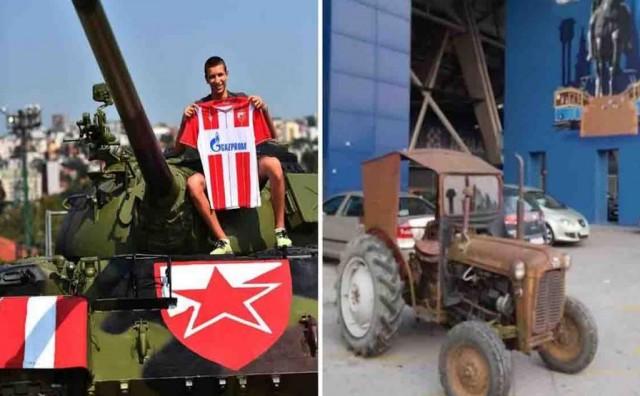 Nakon što su Zvezdaši parkirali tenk pred stadionom, BBB pred Maksimirom parkirali traktor