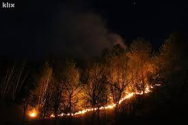I dalje aktivan požar na planini Visočici iznad sela Grušča u općini Konjic