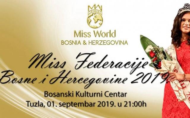"""24. izbor """"Miss Federacije za Miss BiH za Miss Svijeta 2019"""""""