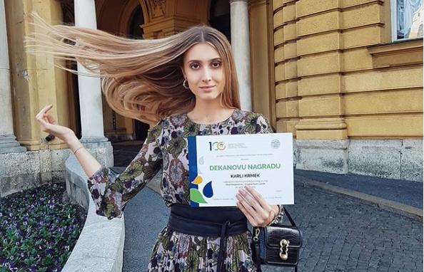   Čapljinka Karla Krmek dobitnica Dekanove nagrade