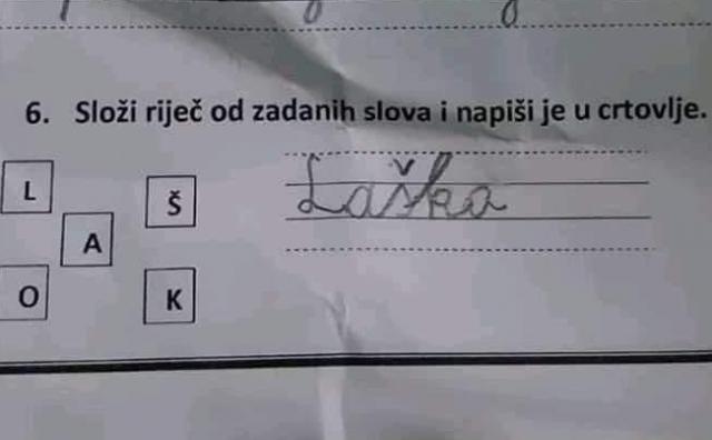 Učenik u Osnovnoj školi svojim odgovorom na postavljeni zadatak nasmijao sve