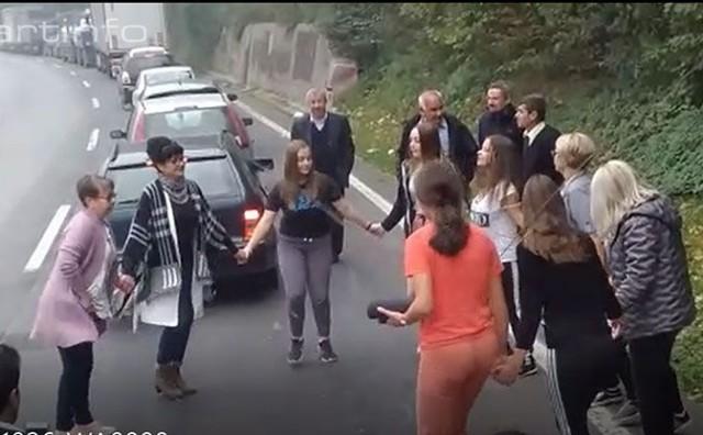 Fojničani 'nastupili' pred tunelom Vranduk