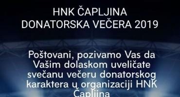 U petak 29. studenog donatorska večer HNK Čapljina