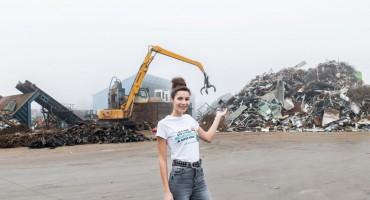 Katarina Mamić, aktualna Miss Hrvatske i C.I.O.S. Grupa pokazali kako reciklirati auto-olupine