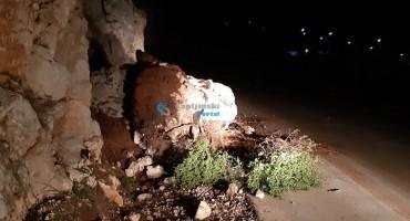 Odlomio se komad brda na cesti koja povezuje Šurmance i Međugorje