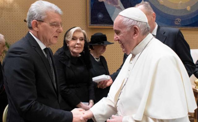 Džaferović u audijenciji kod pape Franje