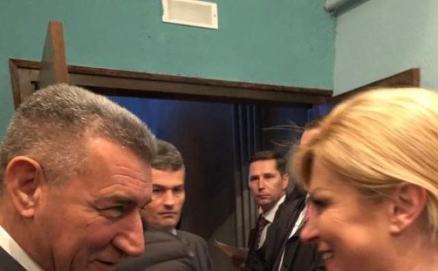 Predsjednica Grabar-Kitarović u Zadru se susrela s Antom Gotovinom