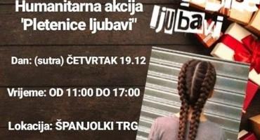 HUMANITARNA AKCIJA 'Pletenice ljubavi' na Španjolskom trgu u četvrtak