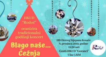HKUD 'Rodoč' Vas poziva na tradicionalni Godišnji koncert 'Blago naše'