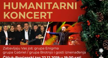 Veliki humanitarni koncert 22. prosinca na Broćanskom trgu u Čitluku