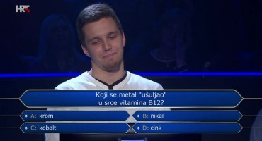 Studenta samo tri pitanja dijelila od milijuna, poslušao publiku i prevario se na odgovoru za 250 tisuća kuna