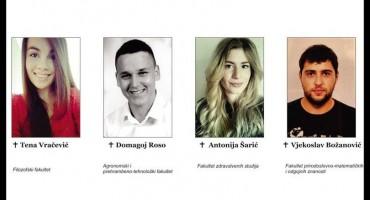 TUŽNA OBLJETNICA Mostar se prisjeća pogibije četvero studenata iz Slavonije