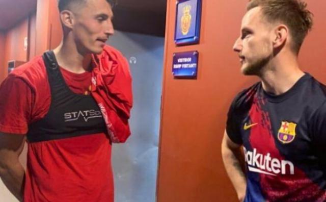 Hrvati iz BiH na velikoj sceni: Budimir dvostruki strijelac na kultnom stadionu, Rakitić mu poklonio dres
