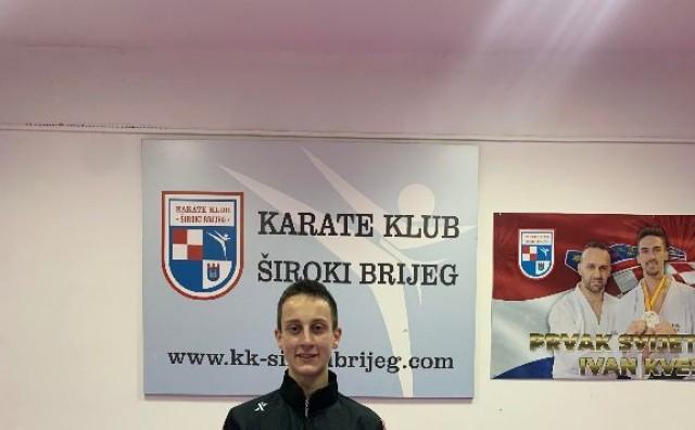 Član karate kluba Široki Brijeg Luka Kvesić otputovao na Balkansko prventsvo
