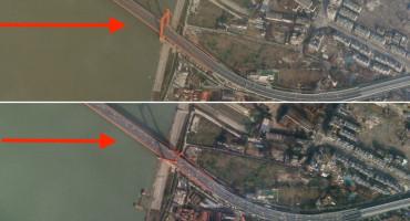 OSMI DAN KARANTENE Satelitske fotografije prikazuju napuštene ulice Wuhana!
