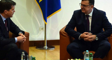 Predsjedatelj Tegeltija razgovarao s veleposlanikom SAD-a Nelsonom