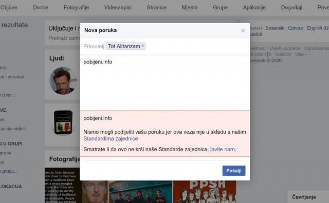 FACEBOOK CENZURA Blokirana stranica koja piše o stradanju hercegovačkih franjevaca