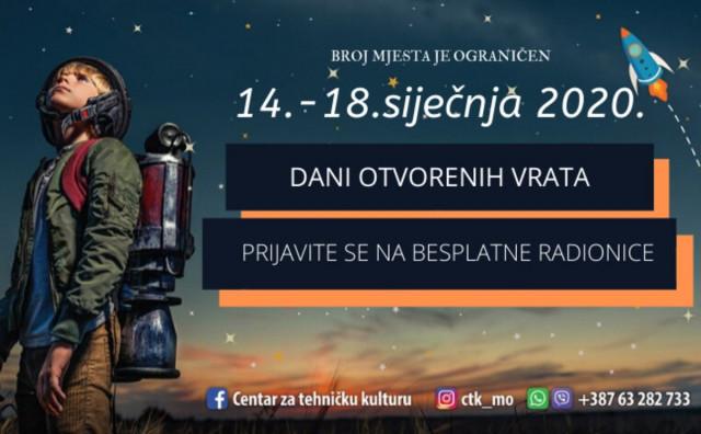 BESPLATNE RADIONICE Dani otvorenih vrata u STEM CTK Mostar