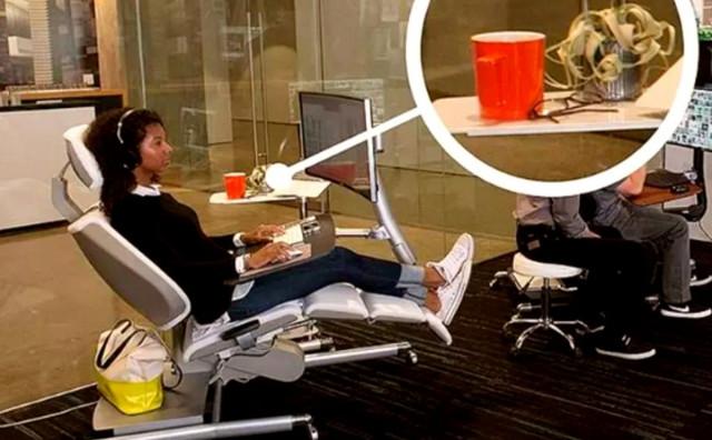 IDEALNO RJEŠENJE Izumili stol za ležanje na poslu!