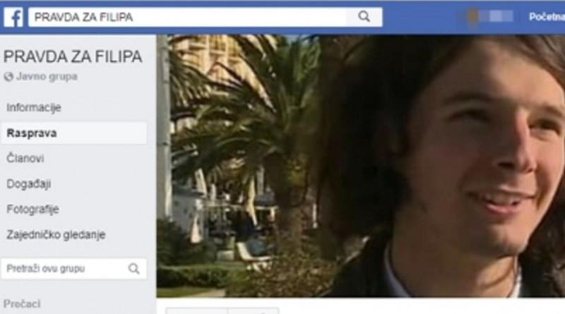 PRAVDA ZA FILIPA Osnovana grupa podrške na Facebooku