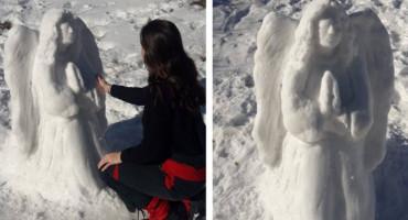 REMEK-DJELO Čitlučanka na Blidinju napravila skulpturu Anđela sklopljenih ruku