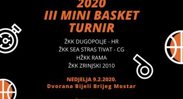 ŽKK Zrinjski 2010 organizira međunarodni Mini basket turnir