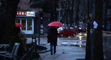 U Hercegovini kiša, u Bosni snijeg i susnježica