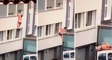 VIRALNI HIT Polugoli muškarac pao s prozora bježeći od ljutitog muža