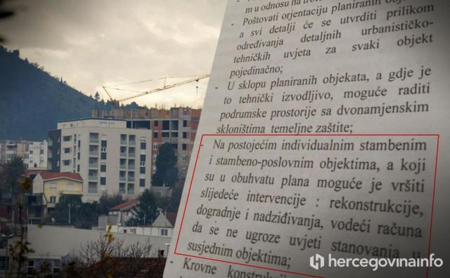 URBICIZAM Grad Mostar daje dozvole MIMO vlastitih planova i propisa
