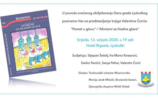 LJUBUŠKI Predstavljanje knjiga Valentina Ćorića