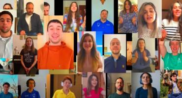 TREBALO JE OVO SNIMITI Mladi iz zbora Mladifesta pjevaju iz cijelog svijeta
