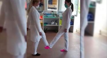 FOOT SHAKE DANCE Djelatnice mostarskog Doma zdravlja prihvatile izazov i zaplesale