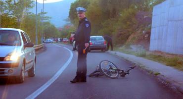 Prometna nesreća u Orlacu, ozlijeđen biciklist