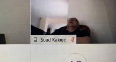 SUAD KAKNJO Zastupnik SDA spavao tijekom online sjednice Parlamenta FBiH