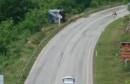 ŠIROKI BRIJEG Na obilaznoj cesti prevrnuo se kamion