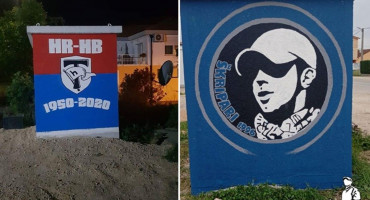 U VRIJEME BEZ TRIBINA Torcida dobila grafit u Čitluku, Škripari u Ljubuškom