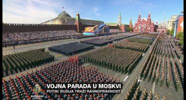 'TAĆE KORONA Vučić i Dodik na Paradi pobjede u Moskvi, 14 tisuća ljudi na ulici