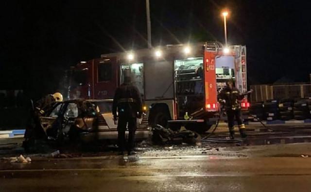 GRADIŠKA Automobil izgorio nakon sudara sa motociklom