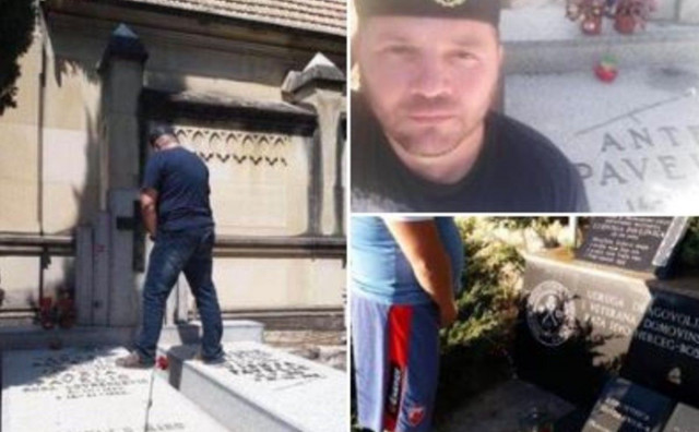 POLICIJA TRAGA ZA PIŠONJOM Ovo mu nije prvi put, urinirao je i po grobu Ante Pavelića